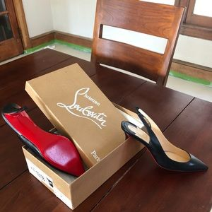 Brand NEw Christian Louboutin Black Leather size 7